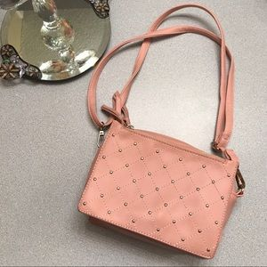 Handbags - Peachy Studded Bag